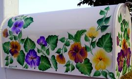 Hand Painted Mailbox - Mother's Day Giveaway