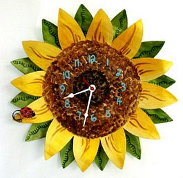 Eco-Friendly Sunflower Clock